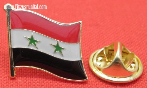 Syria Country Flag Lapel Hat Cap Tie Pin Badge / Brooch Syrian Arab Republic New